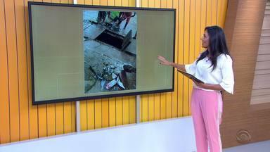 Após denuncias, prefeitura limpa rede pluvial dobairro Jardim Leopoldina, em Porto Alegre - Denúncias foram enviadas pelo WhatsApp do Jornal do Almoço.