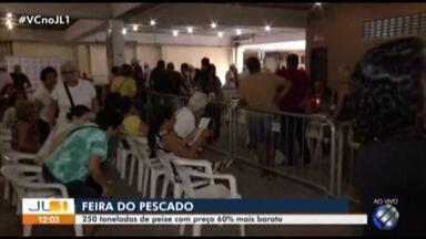 Feira do Peixe garante ceia para a Semana Santa em Belém e no interior do Pará - Pontos de venda começaram a funcionar nesta quarta-feira, 17.