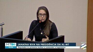 Janaína Riva assume presidência da Assembleia Legislativa - Janaína Riva assume presidência da Assembleia Legislativa.