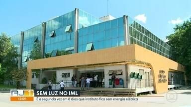 Falta de luz paralisa atendimento no IML - É a segunda vez em 8 dias que o Instituto Médico Legal fica sem energia elétrica. O atendimento para liberação de corpos ficou paralisado.