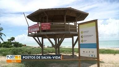 Postos de salva-vidas estão fechados na orla do Recife - Equipe da TV Globo fez levantamento e mostrou que em alguns locais há morador de rua e tapumes
