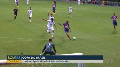 Londrina é goleado na Copa do Brasil - Tubarão perdeu de 4 a 0 para o Bahia.