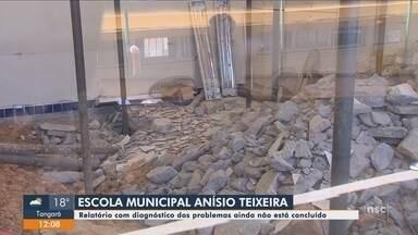 Relatório com diagnóstico da escola Anísio Teixeira, em Florianópolis, não está concluído - Relatório com diagnóstico da escola Anísio Teixeira, em Florianópolis, não está concluído