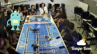 Estudantes de escola de Cachoeirinha falam sobre experiência com robótica - Confira matéria do quadro 'Tempo Bom'.