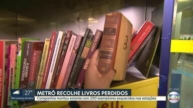 Dia Mundial do Livro: mais de mil títulos são esquecidos no Metrô-SP - Companhia cria estante colaborativa para incentivar trocas