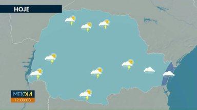 Tempo fica instável em todo o Paraná nesta terça-feira (23) - Chuva é causada por dois sistemas de baixa pressão. Temperaturas ficam perto dos 30 graus.