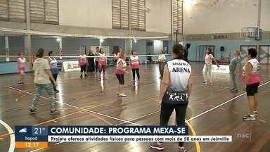 Comunidade: grupo da melhor idade se reúne para praticar esportes - Comunidade: grupo da melhor idade se reúne para praticar esportes