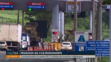 Justiça determina redução nos valores das tarifas de pedágio em duas concessionárias - Viapar e Caminhos do Paraná têm que baixar tarifas em até 25,77%. Na região de Londrina, a determinação vale para o pedágio de Arapongas.