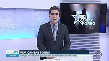 Estão abertas votação para escolher bandas do Vem Cantar Forró - Dos 60 selecionados, 30 irão para a fase seguinte.