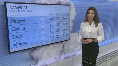 Campinas tem máxima de 32ºC nesta quarta-feira - Confira a previsão do tempo na região.