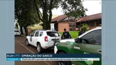 Chefe do IAP e servidor são afastados de funções em Operação do Gaeco - A Operação foi em Pato Branco e as investigações começaram há seis meses.