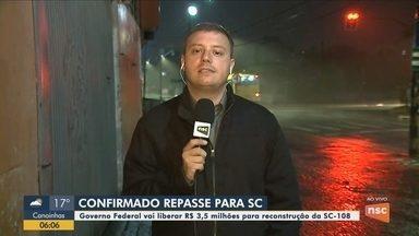 Carlos Moisés (PSL) anuncia repasse de R$ 3,5 milhões para obras na SC-108 - Carlos Moisés (PSL) anuncia repasse de R$ 3,5 milhões para obras na SC-108