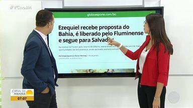 Ezequiel é liberado pelo Fluminense e faz testes no Bahia - Lateral-direito é reserva do Fluminense e pode ser contratado pelo tricolor.