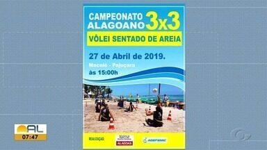Maceió recebe competição de vôlei sentado - Jogos serão realizados na Praia de Pajuçara.
