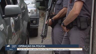 Polícia Militar realiza operação em Morro José Menino, em Santos - Operação aconteceu durante a manhã desta quarta-feira (24). Drogas e armas de fogo foram apreendidas.