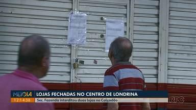 Secretaria Municipal da Fazenda interdita lojas no calçadão de Londrina - Segundo a secretaria, um laudo do corpo de bombeiros apontou que os três estabelecimentos não respeitam todas as normas de segurança e precisam passar por adequações.