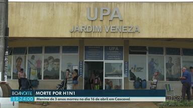 Criança morre de H1N1 em Cascavel - Morte foi confirmada pela Secretaria de Saúde.