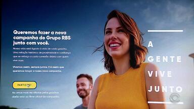 'A Gente Vive Junto', conheça a nova campanha do Grupo RBS - Equipe do Jornal do Almoço foi para as ruas ouvir a opinião as pessoas sobre viver em companhia.