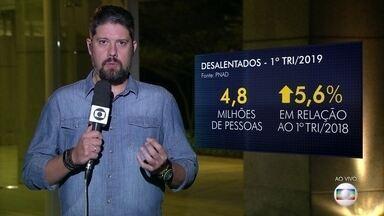 Brasil tem 13,4 milhões de desempregados no 1º trimestre - Os números da PNAD mostram ainda 28,3 milhões de subutilizados (que trabalham menos do que gostariam) e 4,8 milhões de desalentados - que desistiram de procurar emprego.