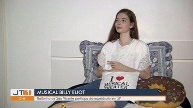Bailarina de São Vicente participa do espetáculo na capital paulista - Ela faz parte do elenco infantil do musical Billy Eliot, em cartaz em São Paulo até o fim de julho.
