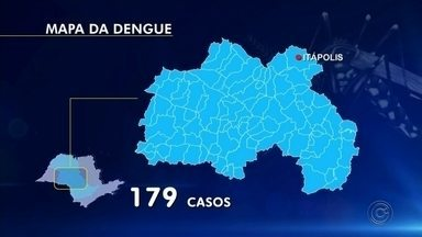 Epidemia de dengue faz Itápolis decretar situação de emergência - A prefeitura de Itápolis decretou situação de emergência por causa da dengue. Até o dia 29 de abril, foram confirmados 179 casos da doença na cidade, que tem pouco mais de 42,5 mil habitantes.