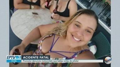 MP denuncia motociclista envolvida em acidente com morte em Sertãozinho - Batida aconteceu no cruzamento da Avenida Antonio Paschoal com a Rua José Bonini.