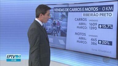 Venda de carros e motos apresenta recuperação em Ribeirão Preto - Em abril, motoristas compraram 1.609 automóveis diante de 1.390 em março.