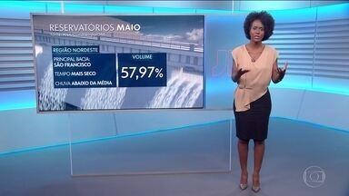 Confira os destaques da previsão do tempo para a sexta-feira (3) - Maju Coutinho traz detalhes da previsão para os principais reservatórios no mês de maio.