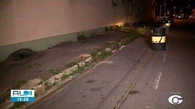 Parte da calçada que cerca o Quartel da PM, no centro de Maceió, será interditada - Prédio apresente problemas estruturais.