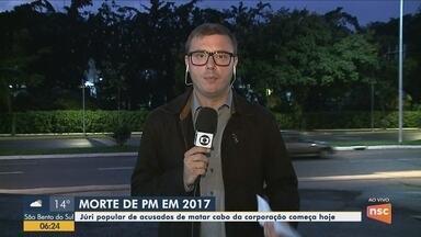 Cinco acusados de executar PM em 2017 vão a júri popular em Joinville - Cinco acusados de executar PM em 2017 vão a júri popular em Joinville