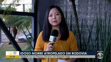Idoso morre atropelado em Regente Feijó - Acidente foi na noite desta quarta-feira (8).