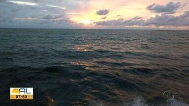Veja as fotos do amanhecer desta quinta-feira em Alagoas - Fotos foram enviadas por telespectadores.