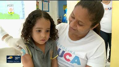 Campanha de vacinação contra a gripe chega a creches de Petrolina - O 'dia D' da vacinação contra a gripe foi no último sábado (04) e muitas crianças não foram imunizadas.