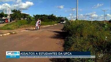 Estudantes da Universidade Federal do Cariri se preocupam com assaltos - Confira mais notícias em g1.globo.com/ce