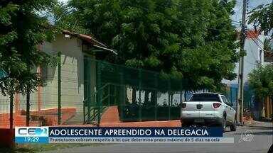 Adolescentes só podem ficar 5 dias em celas, Ministério Público cobra cumprimento da lei - Confira mais notícias em g1.globo.com/ce