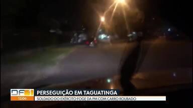 Soldado do Exército rouba carro e é perseguido pela PM - Os policiais militares flagraram o veículo em Taguatinga, seguiram o suspeito e conseguiram detê-lo.