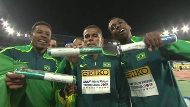 10 segundos: equipe masculina de 4 x 100m vence Mundial de revezamentos - 10 segundos: equipe masculina de 4 x 100m vence Mundial de revezamentos
