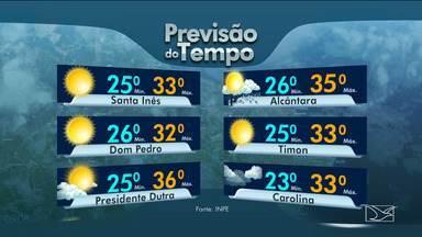 Veja as variações das temperaturas no Maranhão - Confira a previsão do tempo nesta segunda-feira (13) em São Luís e também no interior do estado.