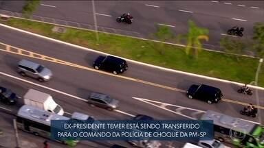 Boletim JN: Temer é transferido para o quartel do Batalhão de Choque da PM em São Paulo - A transferência foi um pedido da defesa do ex-presidente. Ele ainda vai passar por um exame de corpo de delito no IML central, no oeste da capital paulista.