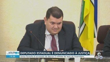 R$ 865 mil pagos a empresa pela Assembleia do AP foram usados em dívidas de ex-presidente - MP identificou desvio e denunciou Júnior Favacho, empresários e ex-servidores.