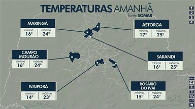 Mínima deve ser de 16ºC em Campo Mourão nesta quinta-feira - confira a previsão do tempo
