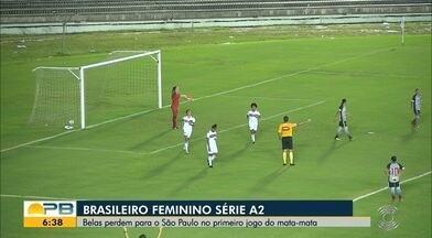 São Paulo vence o Botafogo-PB e abre boa vantagem nas oitavas do Brasileiro Feminino A2 - Tricolor faz 2 a 0 no time paraibano e pode até perder por um gol de diferença, na volta, que se classifica às quartas de final da competição nacional