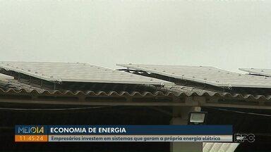 Empresários de Ponta Grossa investem em sistemas alterativos de geração de energia - Sistemas alternativos de geração de energia elétrica rendem economia no bolso e preservam o meio ambiente.