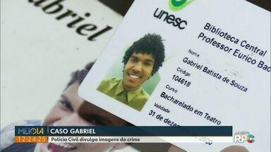 Polícia Civil divulga imagens do suspeito de matar jovem em Cascavel - O crime foi em novembro de 2018. Até agora ninguém foi preso.