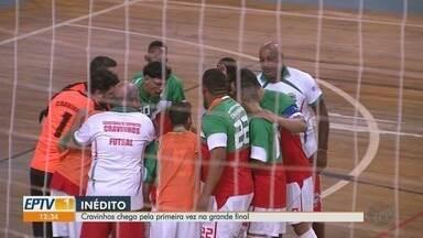 Cravinhos disputa a final da Taça EPTV de Futsal Ribeirão - Time chega pela primeira vez à grande decisão.