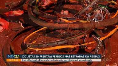 Ciclistas enfrentam perigos nas estradas da região - Nesta semana, dois morreram em um acidente entre Maringá e Paiçandu.