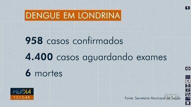 Londrina tem 958 casos de dengue confirmados - Último boletim da Secretaria Municipal de Saúde foi divulgado hoje. Outros 4.400 casos suspeitos aguardam confirmação.