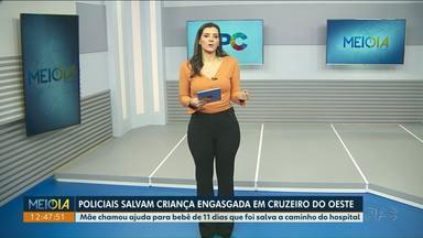 Policiais salvam criança engasgada em Cruzeiro do Oeste - Mãe chamou ajuda para bebê de 11 dias que foi salva a caminho do hospital.