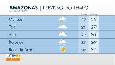 Confira a previsão do tempo para o Amazonas nesta quinta-feira (16) - Confira a previsão do tempo para o Amazonas nesta quinta-feira (16).