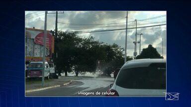 Pontos de vazamento causam desperdício de água em São Luís - Do outro lado, moradores de bairros da capital maranhense reclamam da falta de água nas torneiras.